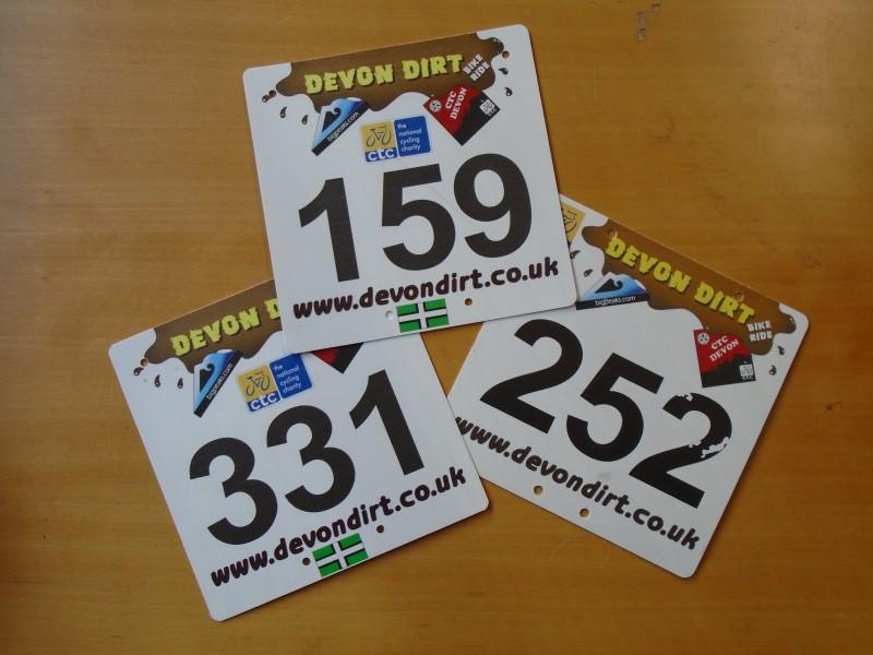 Start Numbers Devon Dirt